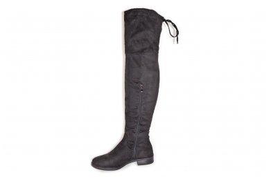 Super ilgi medžiaginiai (veliūriniai) su pašiltinimu ir užtrauktuku šone moteriški batai 3177 2
