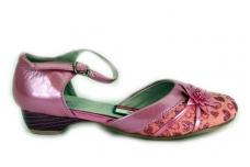 Violetiniai batukai mergaitėms ant kulniuko 1127v