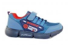Šviesiai mėlyni užsegami lipduku sportiniai batai berniukams 8857