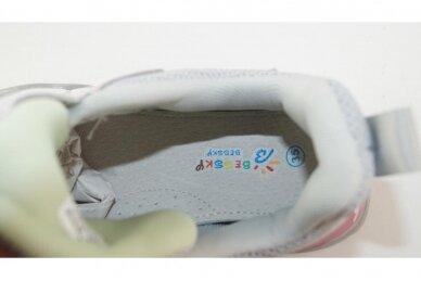 Šviesiai pilki suvarstyti gumyte užsegami lipuku Bessky sportiniai bateliai mergaitėms 7265 4