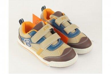 Šviesiai rudi su lipukais XTB laisvalaikio batai berniukams 3