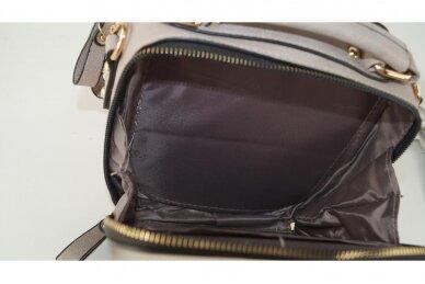 Chaki spalvos nedidelė moteriška rankinė per petį su aukso spalvos užtrauktukais 900653 5