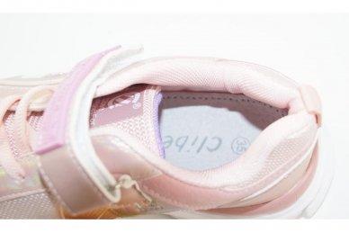 Šviesiai ružavi užsegami lipduku suvarstyti gumyte  Clibee sportiniai batai mergaitėms 4486 4