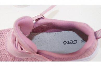 Šviesiai violetiniai medžiaginiai suvarstyti gumyte užsegami lipuku Gelteo sportiniai bateliai mergaitėms 4