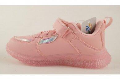 Šv.ružavi suvarstyti gumyte su lipuku LED Bessky sportiniai batukai mergaitėms 2