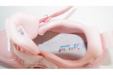 Šv.ružavi suvarstyti gumyte su lipuku LED Bessky sportiniai batukai mergaitėms 4