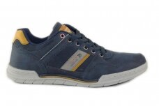 Tamsiai mėlyni suvarstomi vyriški laisvalaikio batai sportiniu padu 1042