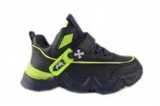 Tamsiai mėlyni suvarstyti gumyte su lipuku Clibee sportiniai bateliai berniukams 1151