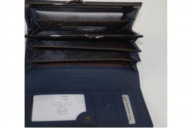 Tamsiai mėlyna odinė Angela Moretti moteriška piniginė 176a-4 4