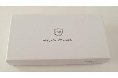 Tamsiai mėlyna odinė Angela Moretti moteriška piniginė 176a-4 5