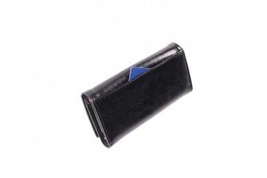 Tamsiai mėlyna odinė Angela Moretti moteriška piniginė 176a-4 7