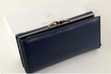 Tamsiai mėlyna odinė Angela Moretti moteriška piniginė 176BS-4 2