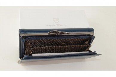 Tamsiai mėlyna odinė Angela Moretti moteriška piniginė 176BS-4 3