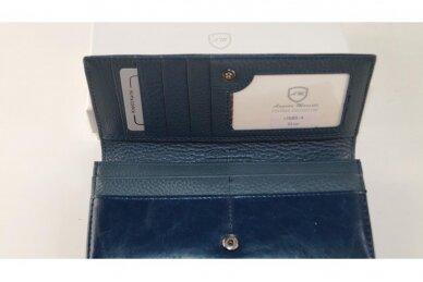 Tamsiai mėlyna odinė Angela Moretti moteriška piniginė 176BS-4 4