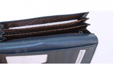 Tamsiai mėlyna odinė Angela Moretti moteriška piniginė 176BS-4 5