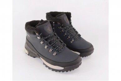 Tamsiai mėlyni suvarstomi su vilnos kailiu AXBOXING sportiniai vyriški žieminiai batai 8509 3