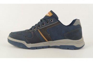 Tamsiai mėlyni suvarstomi vyriški laisvalaikio batai sportiniu padu 0422m 2