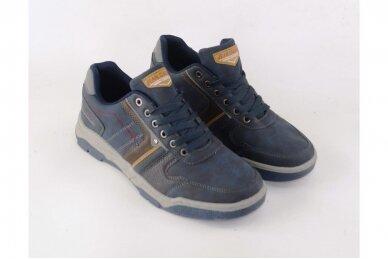 Tamsiai mėlyni suvarstomi vyriški laisvalaikio batai sportiniu padu 0422m 3