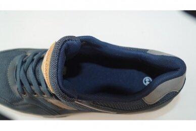 Tamsiai mėlyni suvarstomi vyriški laisvalaikio batai sportiniu padu 0422m 4