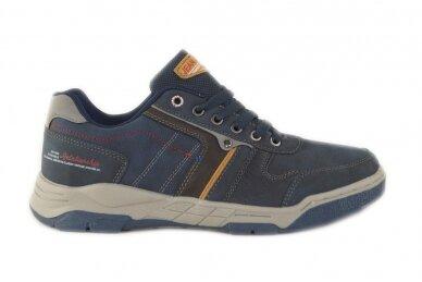 Tamsiai mėlyni suvarstomi vyriški laisvalaikio batai sportiniu padu 0422m