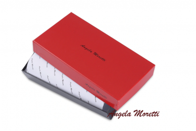 Tamsiai raudona odinė lakuota pagražinta drugeliais Angela Moretti moteriška piniginė 0425r 8