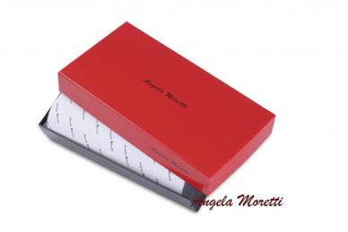 Tamsiai raudona odinė lakuota pagražinta drugeliais Angela Moretti moteriška piniginė su RFID apsauga 512r 5