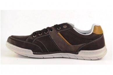 Tamsūs suvarstomi pilkšvu padu vyriški laisvalaikio batai 9601 2