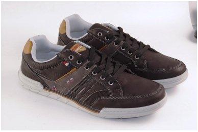 Tamsūs suvarstomi pilkšvu padu vyriški laisvalaikio batai 9601 3
