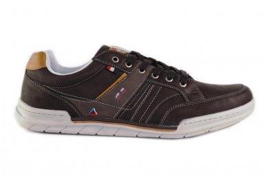 Tamsūs suvarstomi pilkšvu padu vyriški laisvalaikio batai 9601