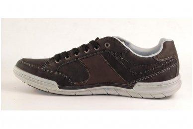 Tamsūs suvarstomi pilkšvu padu vyriški laisvalaikio batai 9611 2