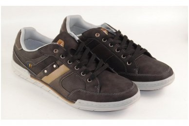 Tamsūs suvarstomi pilkšvu padu vyriški laisvalaikio batai 9611 3