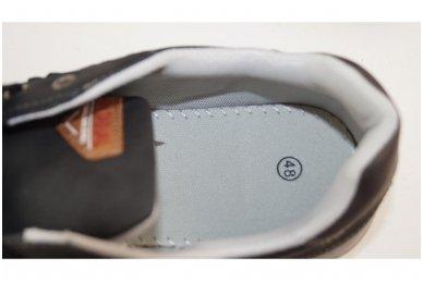 Tamsūs suvarstomi pilkšvu padu vyriški laisvalaikio batai 9611 4