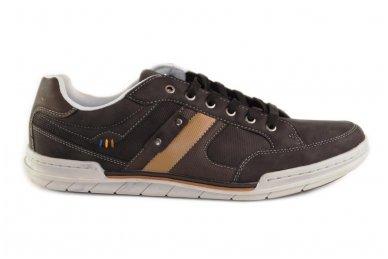 Tamsūs suvarstomi pilkšvu padu vyriški laisvalaikio batai 9611
