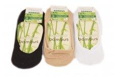 Trys poros moteriškų pėdučių su bambuko pluoštu 2020b