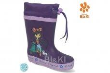 Violetiniai BL&KL botai mergaitėms 0865 su pašiltinimu