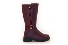 """Violetiniai su """"auksine"""" sagtele Clibee žieminiai batai mergaitėms su kailiu"""