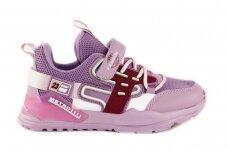 Violetiniai suvarstyti gumyte užsegami lipuku Bessky sportiniai bateliai mergaitėms 7266