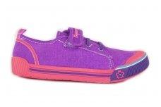Violetiniai užsegami lipduku tekstiliniai sportiniai bateliai mergaitėms 9469