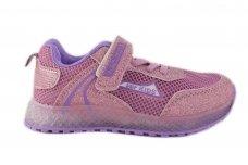 Violetiniai vasariniai tinklelinės medžiagos su lemputėmis užsegami lipduku suvarstyti gumyte sportiniai batai mergaitėms