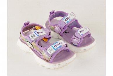 Violetinės baltu padu su dviem lipukais Clibee basutės mergaitėms 7857 3