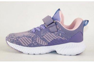 Violetiniai medžiaginiai suvarstytis gumyte su lipduku Clibee sportiniai batukai mergaitėms 2