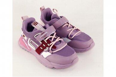 Violetiniai suvarstyti gumyte užsegami lipuku Bessky sportiniai bateliai mergaitėms 7266 3