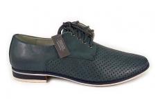 Melsvi skylėti klasikiniai vyriški batai vasarai
