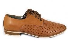 Gelsvi skylėti klasikiniai vyriški batai vasarai