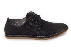 Vyriški batai juodi skylėti vasarai 6010j